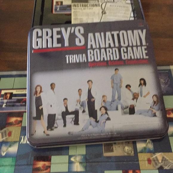 Games Greys Anatomy Trivia Board Game Poshmark